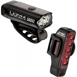LEZYNE MICRO DRIVE 500XL/STRIP 150 LM PAIR BLACK